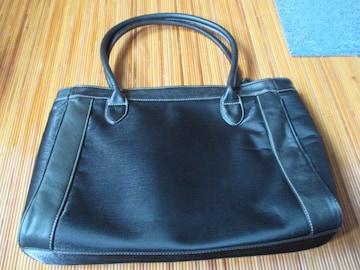ミキモトインターナショナル 本革レザー使いトートバッグ