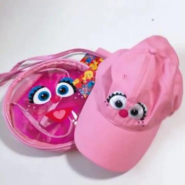 セサミストリート アビー ショルダーバッグ 帽子セット