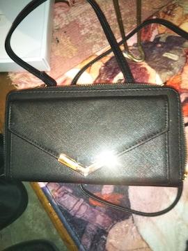 新品お財布ショルダーブラック