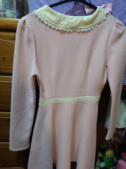 春 ピンクのお嬢様ワンピース < 女性ファッションの