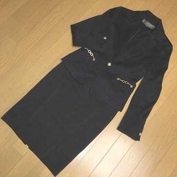 ボディドレッシング デラックス スーツ 紺色 38