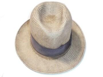 PARK ROYAL HATS 帽子ハットストロー麦わらパナマ中折れUSA製黒L