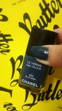 CHANELダークブルー箱なしこ�bT53