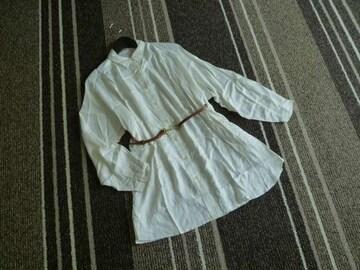 新品☆トランテアンソンモード ベルト付きロングシャツ☆