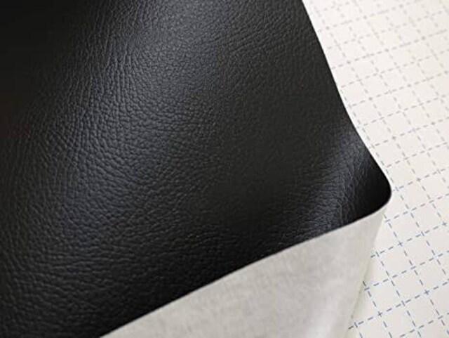 貼るレザー合皮生地(黒)135×80cm  < ペット/手芸/園芸の