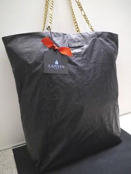 美品◆LANVIN PARIS ランバン ショッパートート バッグ 黒