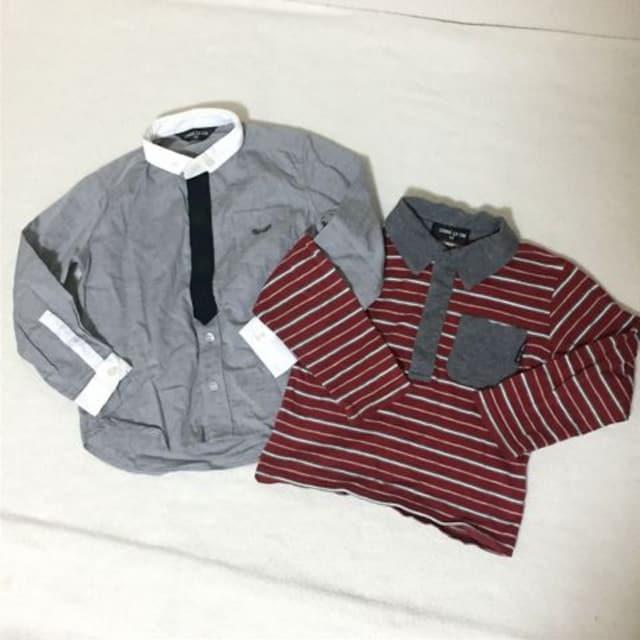 #COMME CA ISMシャツロンT2点セット90  < ブランドの