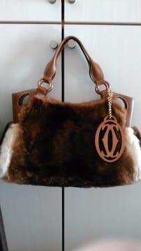 Cartierマルチェロファーレザーハンドバッグ