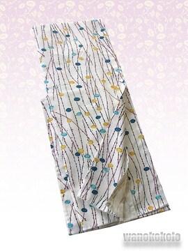 【和の志】洗える着物◇袷Lサイズ◇クリーム系・小菊◇AHL-420