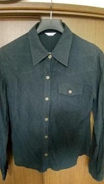 2wayの黒シャツ★袖ロールアップ★Mサイズ