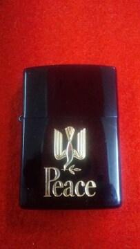 PeaceブルーチタンZippo