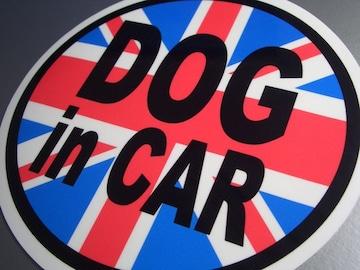 DOG in CARイギリス国旗ステッカー○犬が乗ってます!シール