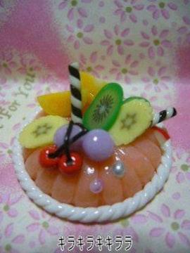 《New》デコ*ホールケーキ<樹脂粘土>★フルーツたっぷりケーキ