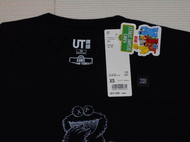 UNIQLO カウズ×セサミストリート 半袖Tシャツ モノクロ < ブランドの