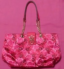 Victoria'sSecretピンクバラ柄トートバッグヒョウ柄ヴィクシーヴィクトリアシークレット