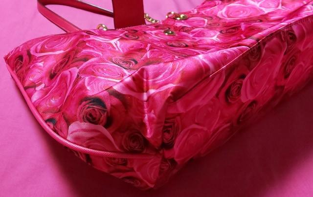 Victoria'sSecretピンクバラ柄トートバッグヒョウ柄ヴィクシーヴィクトリアシークレット < ブランドの