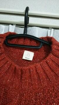 新品 未使用 編み込み ニット セーター 赤 レッド 可愛い