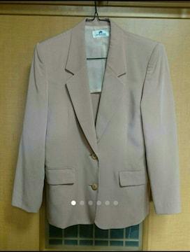 美品オンワード樫山 とろみくすみピンク テーラードジャケットS