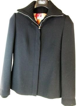 美品ドルガバジップアップレディースジャケット黒 38