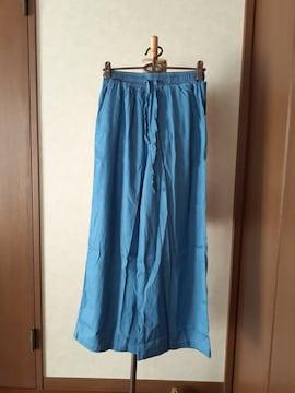 新品未使用・ワイドパンツ・デニム・ライトブルー