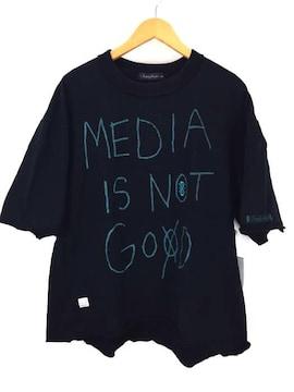 Slightly Numb(スライトリーナム)スウェットTシャツUネックTシャツ
