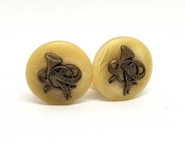 正規美品エルメスイヤリングホーンラッパバッファローホー