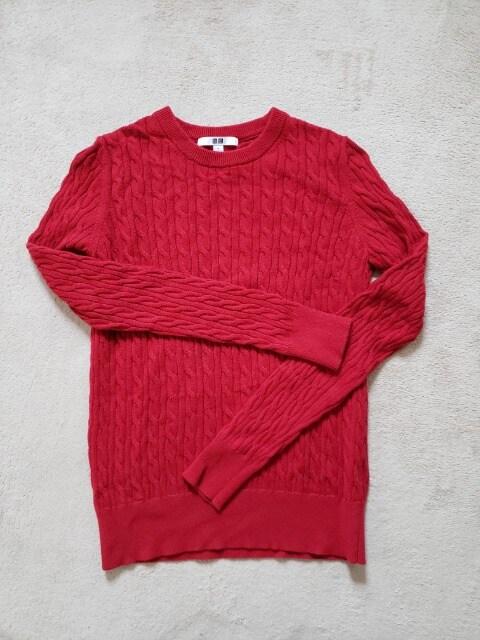 UNIQLO ユニクロ ケーブル編み カシミア混 ニット セーター S  < ブランドの