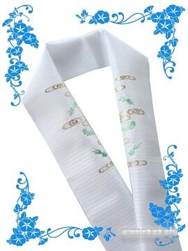 【和の志】日本製◇夏物刺繍半襟◇観世流水に金魚◇144