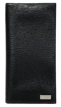 新品同様正規フェラガモ長財布マチあり二つ折り長札入れ型押し