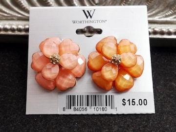 新品 WORTHINGTON アンティーク調お花ピアス