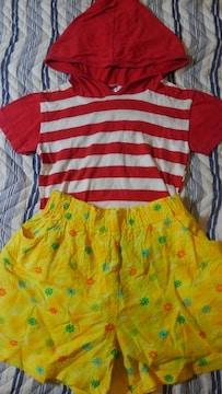 キュロット(110)+Tシャツ(90)   夏休のお出かけにピッタリ