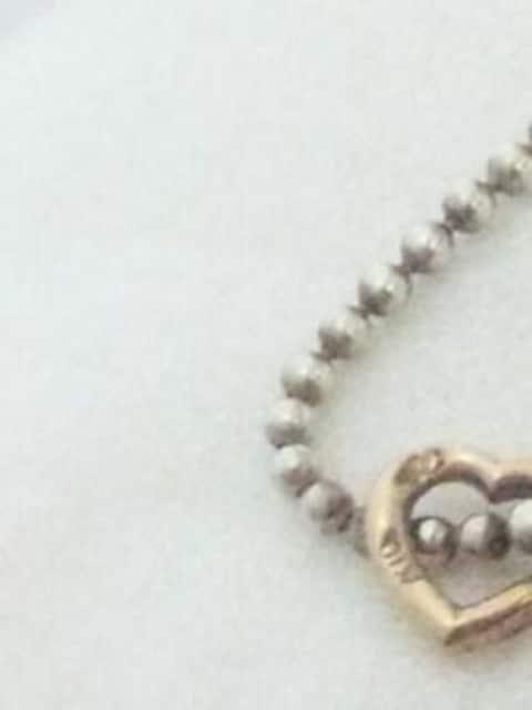 ヨンドシー【4℃】SILVER K10 シルバー 10金 プチ ハート ネックレス < ブランドの
