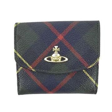 ◆新品本物◆ヴィヴィアンウエストウッド DERBY 3つ折財布(BL)『51150003』