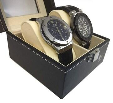 時計ケース クロス付き レザー製 高級 オシャレ