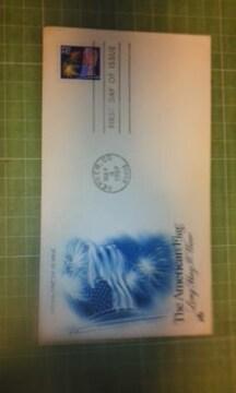 アメリカ22c国旗切手FDC♪