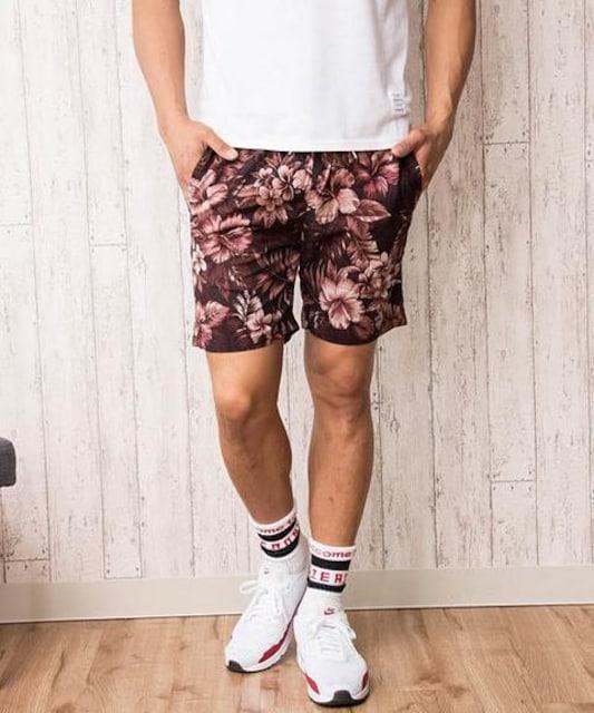 メンズ 花柄 ショートパンツ ハーフパンツ L  < 男性ファッションの