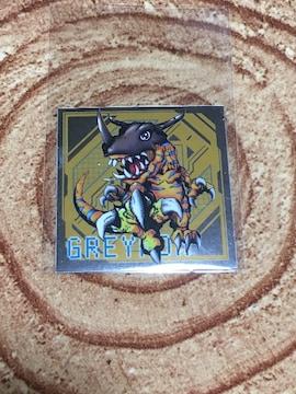 デジモンアドベンチャー 紋章グミ シール 09 グレイモン