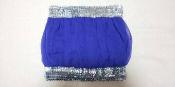 ANAP  パープルシフォンスパンコールチューブトップ 紫×シルバー