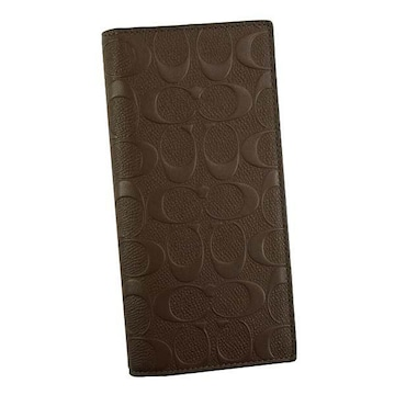 ◆新品本物◆コーチ シグネチャー レザー ブレスト ポケット 長財布(MAH)F75365◆