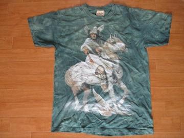 古着 THE MOUNTAIN 先住民 タイダイ Tシャツ USA−M