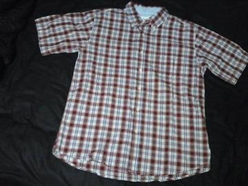 赤チェックシャツ M