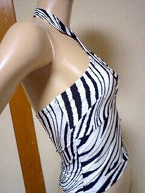 激エロ℃-ute(*/∀\*)胸元魅せッ♪ゼブラ柄ホルタートップス < 女性ファッションの