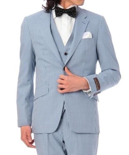 ☆タケオ キクチ CANONICO ギンガムチェック 3ピーススーツ/メンズ/M☆新品  < ブランドの