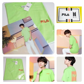送料無料★FILA フィラ ★半袖 Tシャツ/BTS V着用モデルなど