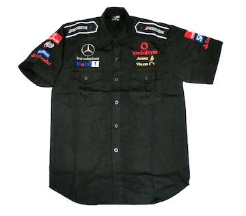 1セール! ベンツ ロゴ  シャツ XL f147