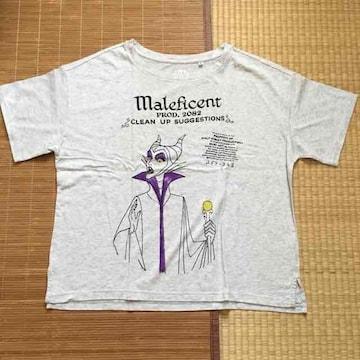 ユニクロ×ディズニー・ロゴ&マレフィセント柄TシャツXLサイズ