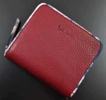 新品/箱付 ポールスミス 人気花柄デザイン 折り財布 f123