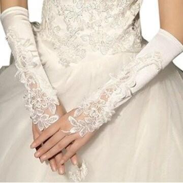 ★指なしタイプ★ ウェディンググローブ 白 30cm