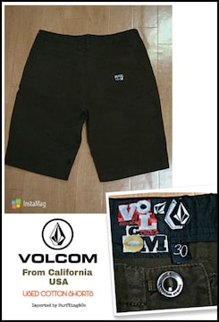 VOLCOMコットンショーツ★本物USA直輸入モデル希少USED!SALE!