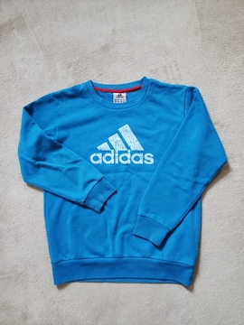 adidas アディダス トレーナー ブルー 140
